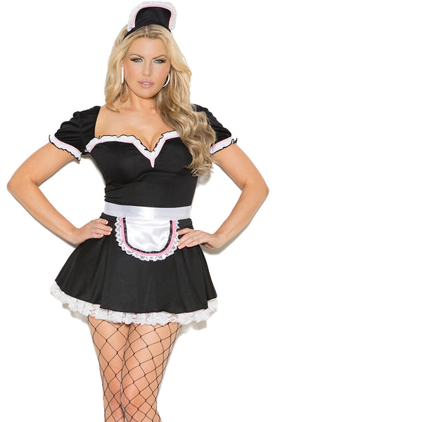Sexy Plus Size French Maid to Please Halloween Costume Elegant Moments 9132