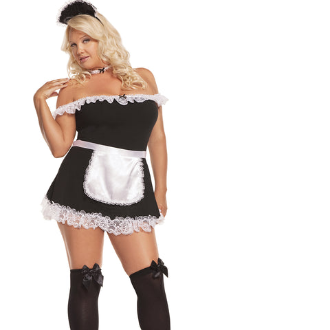 Sexy Plus Size Mistress French Maid Halloween Costume Elegant Moments 9395
