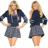 Sexy Plus Size Class Distraction  School Girl Halloween Costume 99004