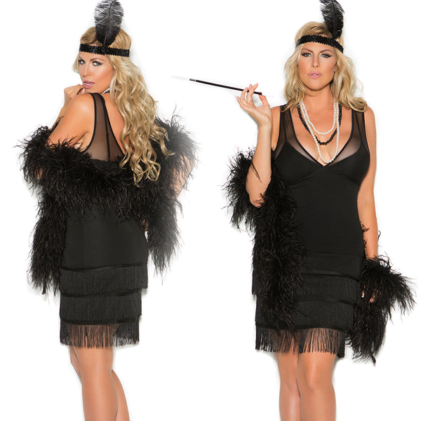Sexy Plus Size Flapper Halloween Costume Elegant Moments 99051
