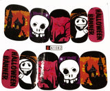 5 Full Sheet of Halloween Inspired Water Nail Decals / Stickers - Pumpkins - Skull -  Witches - Cats - Bats