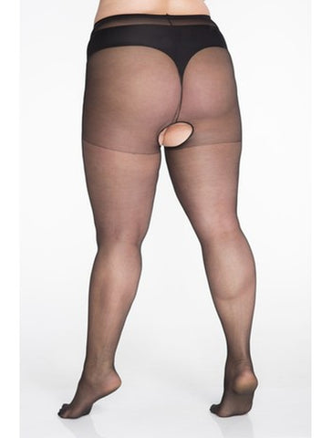 Sexy Plus Size Sheer Open Crotch Pantyhose Top Quality - Extra Stretchy