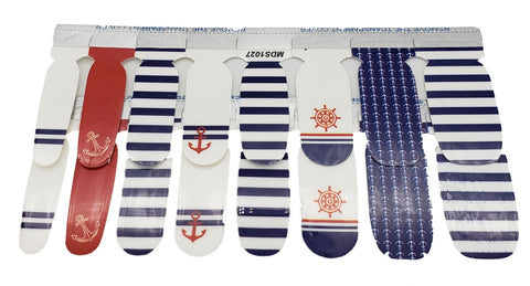 4th of July Marine Navy Inspired Nail Wraps with Anchor Decals Sticker - American Pride Sticker