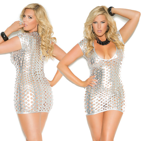 Sexy Women's Plus-Size Queen Size Cut-Out Deep-V Club Dress Elegant Moments 8302X
