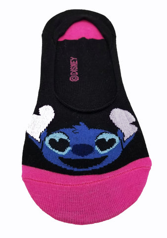 Cute Novelty Design Lilo & Stitch Ultra Low no Show Socks - Shoe Liners Black, Pink Turquoise, Blue