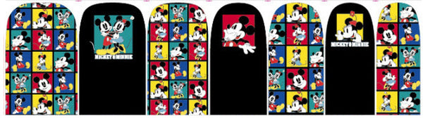 Cute Minnie Mouse Mickey Mouse Nail Decals Sticker Salon Quality Nail Art - 1 Sheet Fingernails