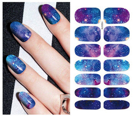 Full Sheet Galaxy Dr Who Inspired Nail Stickers  - Salon Quality Nail Art Nail Wrap Nail Decals  - 1 Sheet