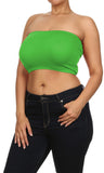 Womans Trendy Plus Size Soft Seamless Bandeau Tube Top Queen Size
