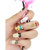 12 Super Cute geek Chic Cat Cats Nail Wrap Decals Sticker Salon Quality Nail Art - 1 Sheet