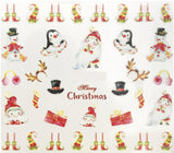 Full Sheet Merry Christmas - Santa Claus - Elf - Penguin Nail Stickers - Nail Art Nail Wrap Nail Decals
