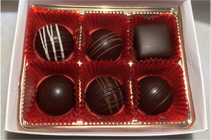 6 Piece Chocolate Box