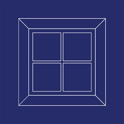 Decorative Faux Window Square