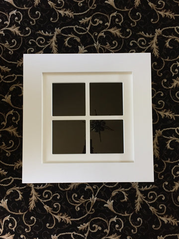 "Faux Window - Square Shape - 26"" x 26"" / Flat Trim / 4 lite (1 in Stock)"