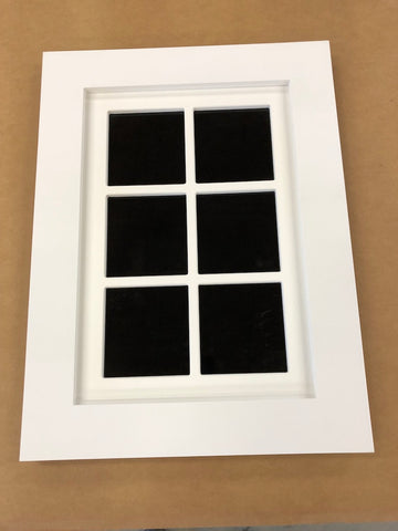 "Faux Window Rectagular 24"" x 36"" / Flat Trim / 6 lites (1 in Stock)"