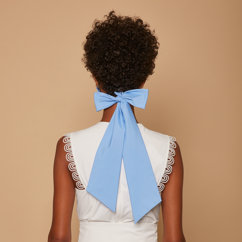 Blue Cotton Bow Mask