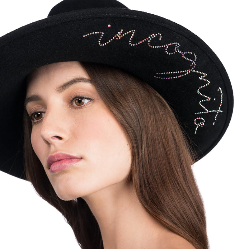 "Dita ""Incognito"" Wool Asymmetric-Crown Fedora"