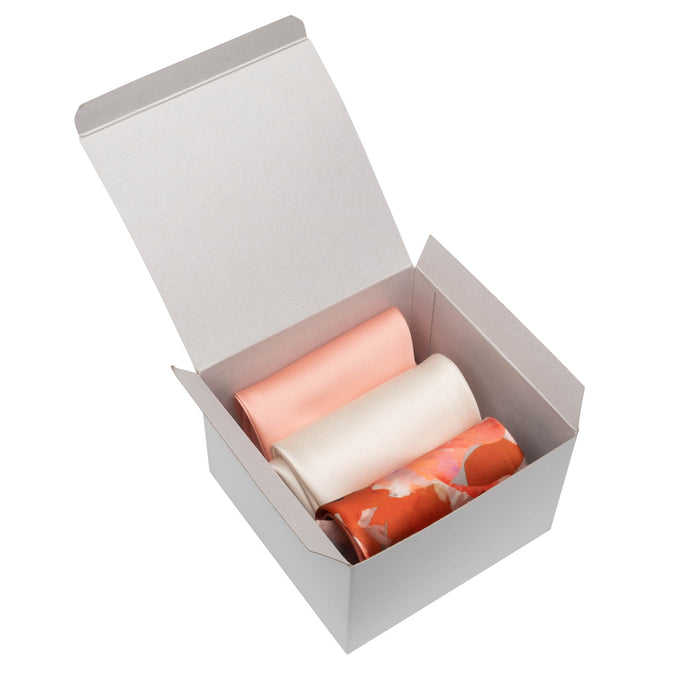3-Pack Scarf Set (Peach/Cream/Red)