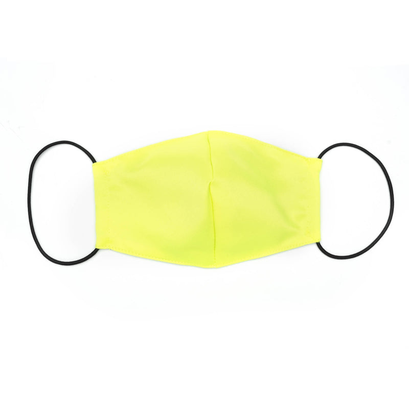 Sculpted Mask in Neon Yellow