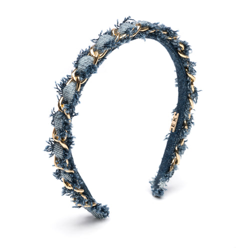 Alice headband in Denim - Eugenia Kim