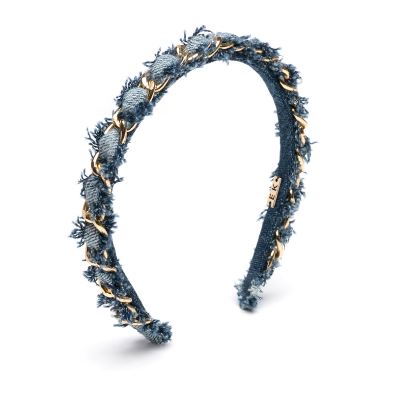 Alice headband in Denim