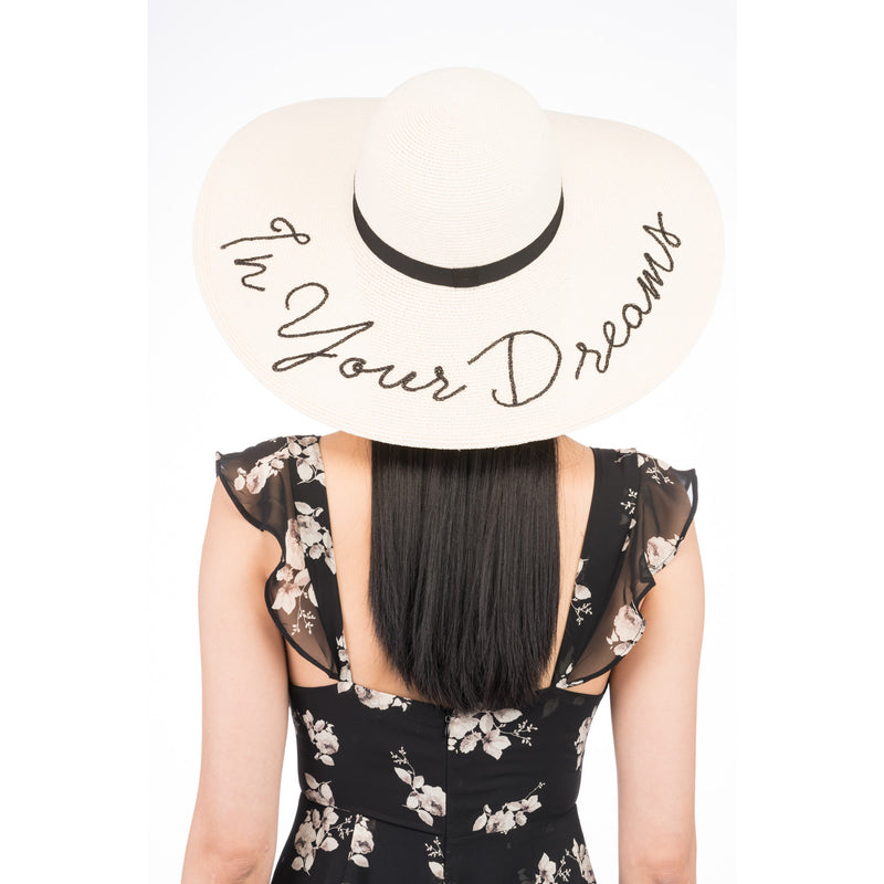 Bunny 'In Your Dreams' Straw Sunhat in Ivory - Eugenia Kim