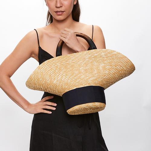 Belle Straw Bag in Natural - Eugenia Kim