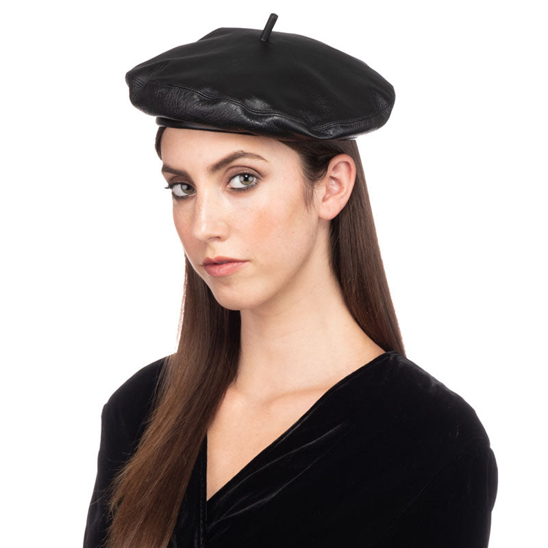 CARTER LEATHER BERET - Eugenia Kim