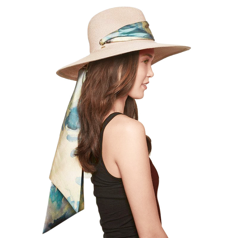 Cassidy in Stone with Seafoam Scarf - Eugenia Kim