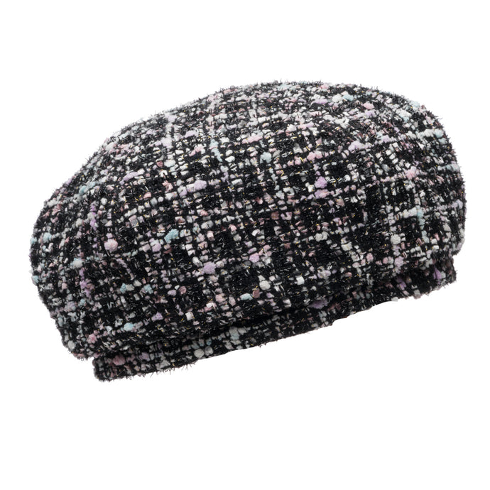 Chloe beret in Black/Pastel - Eugenia Kim