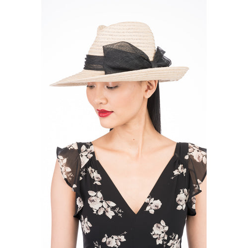 Dita straw fedora in Natural - Eugenia Kim