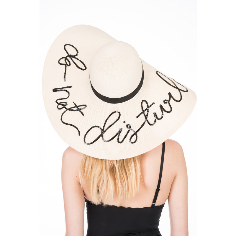 Sunny 'Do Not Disturb' Straw Sunhat in Natural - Eugenia Kim