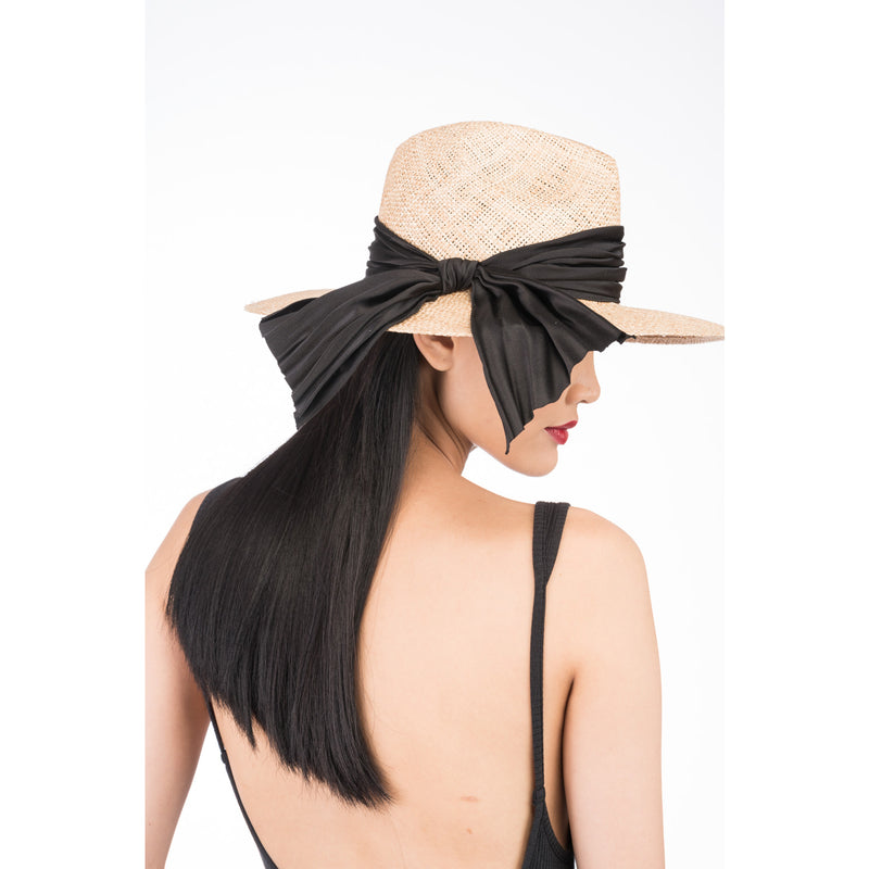 EMMANUELLE STRAW HAT WITH BOW