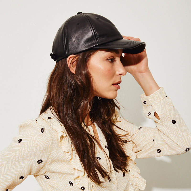 Lo Baseball Cap in Black - Eugenia Kim