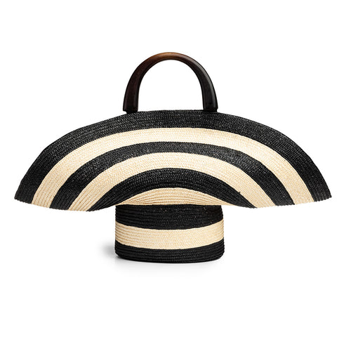 Flavia in Ivory/Black Stripe - Eugenia Kim