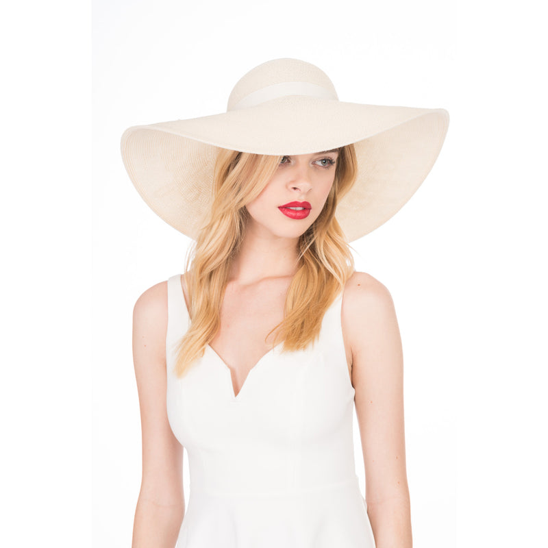 Bunny 'Happily Ever After' Straw Sunhat in Ivory - Eugenia Kim