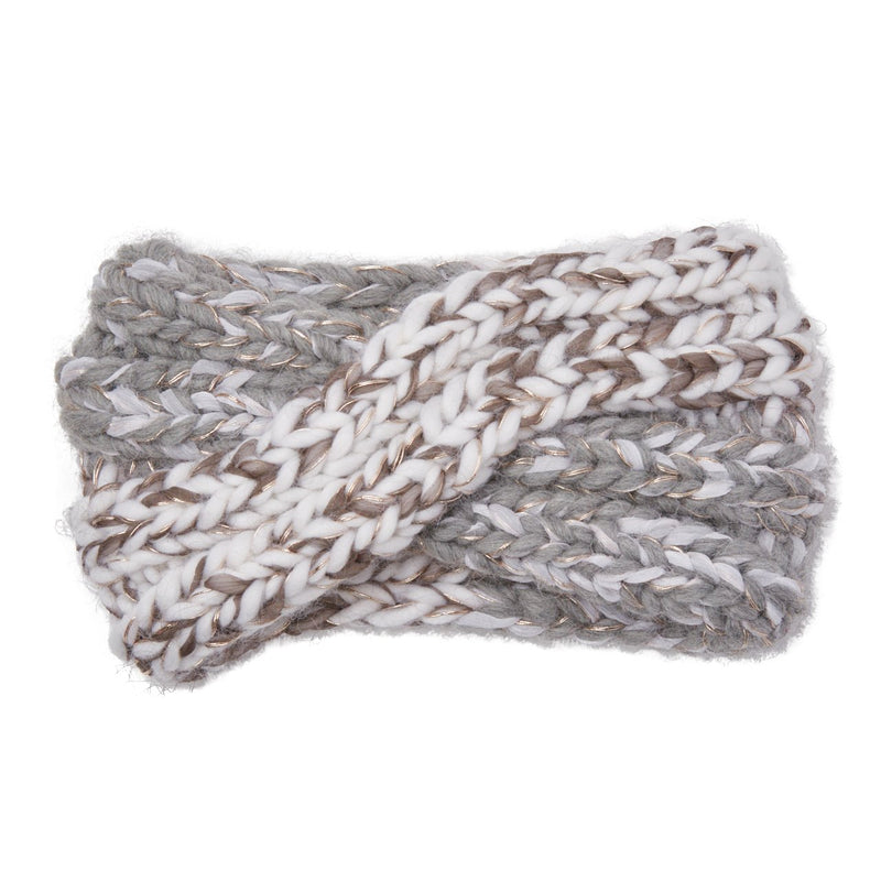 Eugenia Kim chunky knit wool Lula headband in Winter White/Light Gray