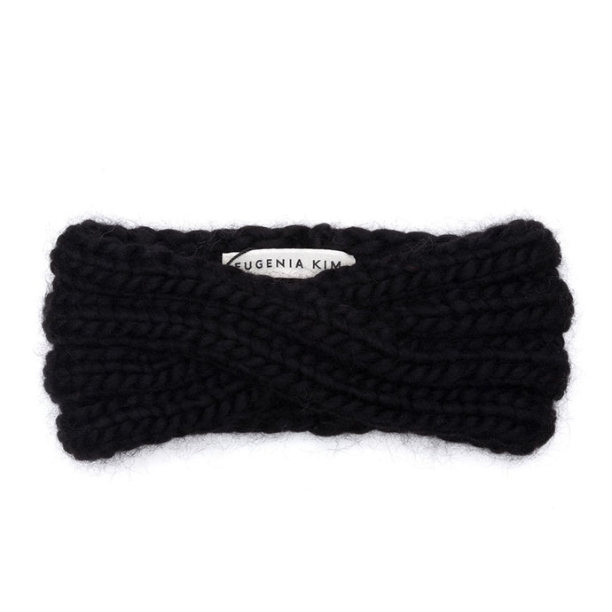 Eugenia Kim Core Collection black Lula intarsia knit chunky wool headband