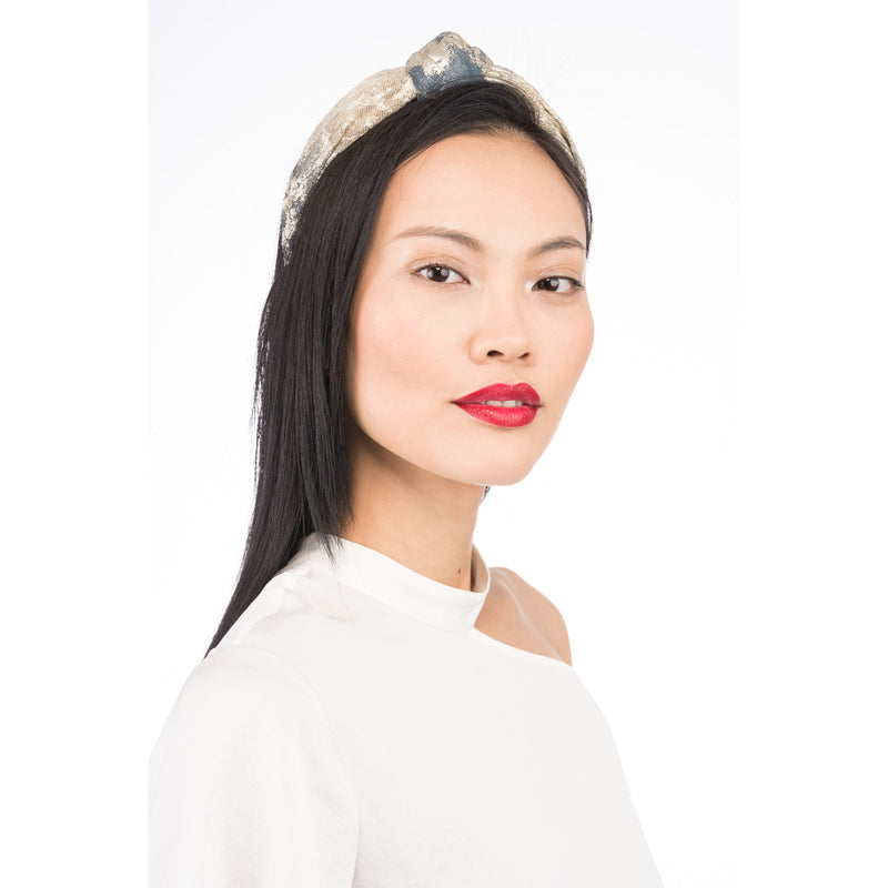 Maryn Headband in Blue/Gold - Eugenia Kim