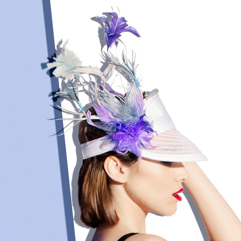 Vicky Visor with Purple Feather - Eugenia Kim