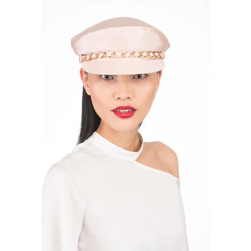 Marina Cap in Blush Satin - Eugenia Kim