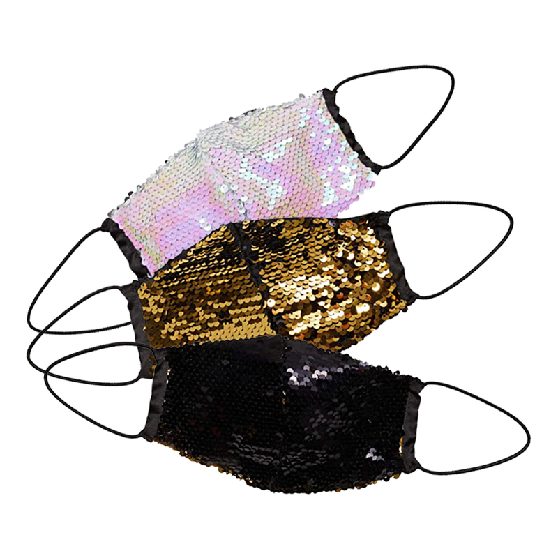 3-Pack Sequin Masks