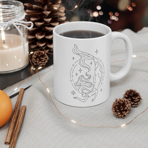 "Pisces ""Dive Deep"" Mermaid Goddess Astrology Zodiac Mug 11oz"