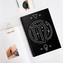 """Power"" Scorpio Symbol Spiral Notebook - Ruled Line"
