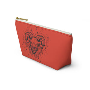 "Aries Zodiac Ram ""Renewal"" Accessory Pouch w T-bottom"