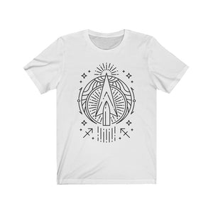 "Sagittarius Arrow Zodiac Astrology ""Intent""  Unisex Jersey Short Sleeve Tee"