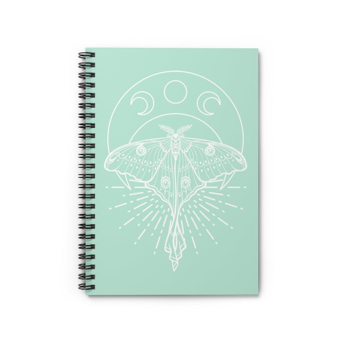 Mystic Luna Moth Spiral Notebook - Ruled Line