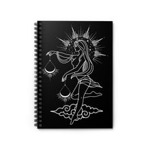 """Grace"" Libra Goddess Spiral Notebook - Ruled Line"