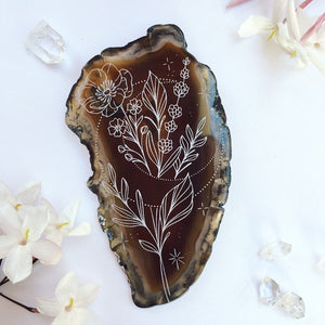"""Moon Blooms"" Anemone Flower Agate Slices - Flower Essence Collection"