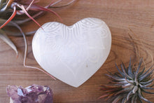"Etched Selenite Heart ""Way of the Heart"""