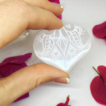 "FREE with $50 Purchase ""Sweetest Surrender"" Small Sacred Selenite Heart"